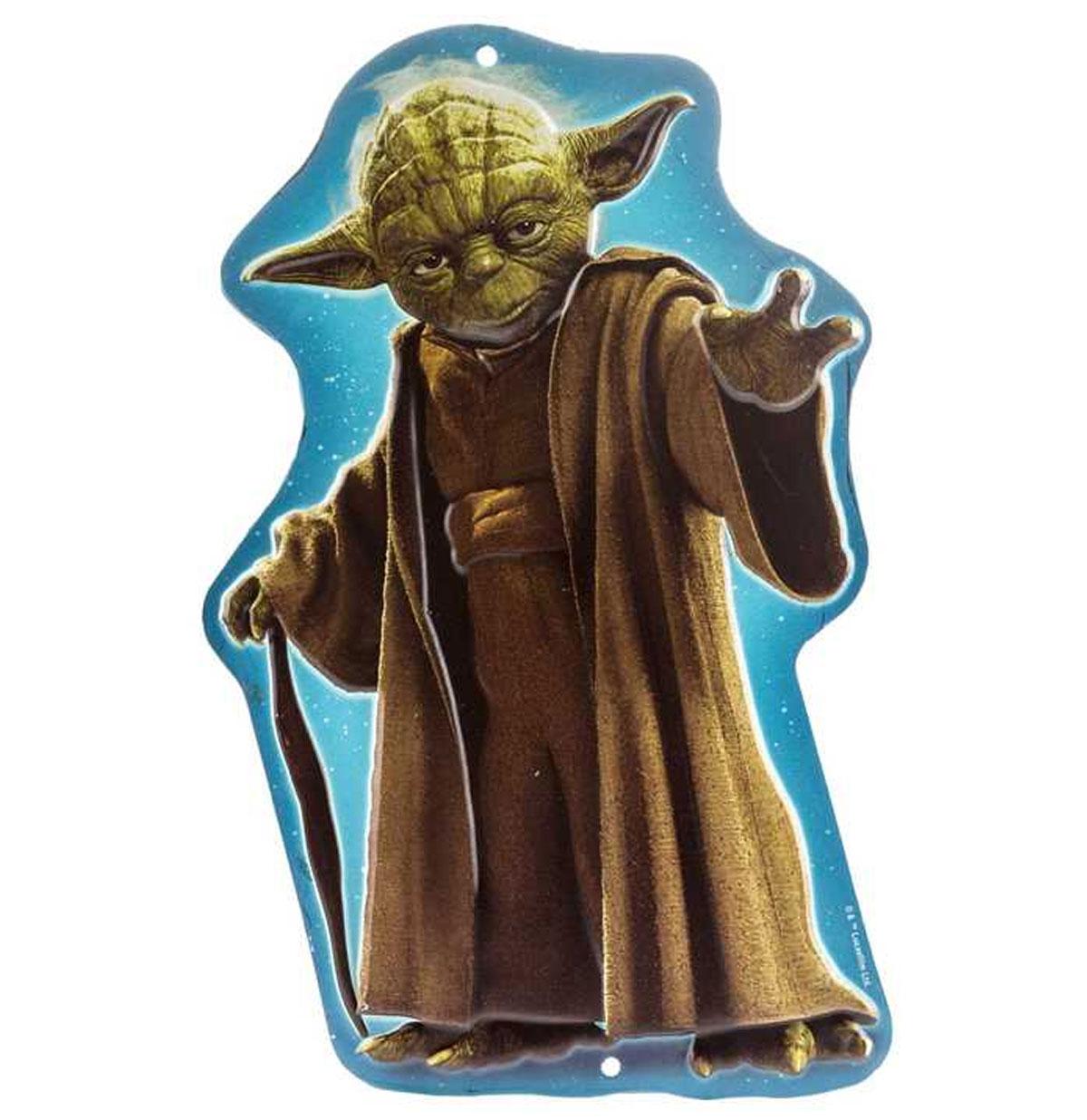Star Wars Yoda Relief Tinnen Bord