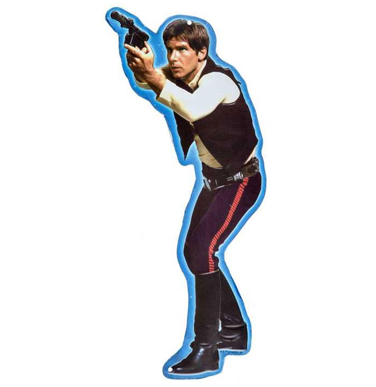 Star Wars Han Solo Relief Tinnen Bord