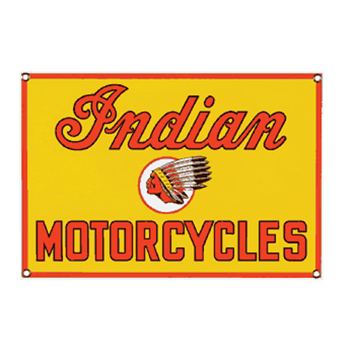 Indian Motorcycles Emaille Logobord