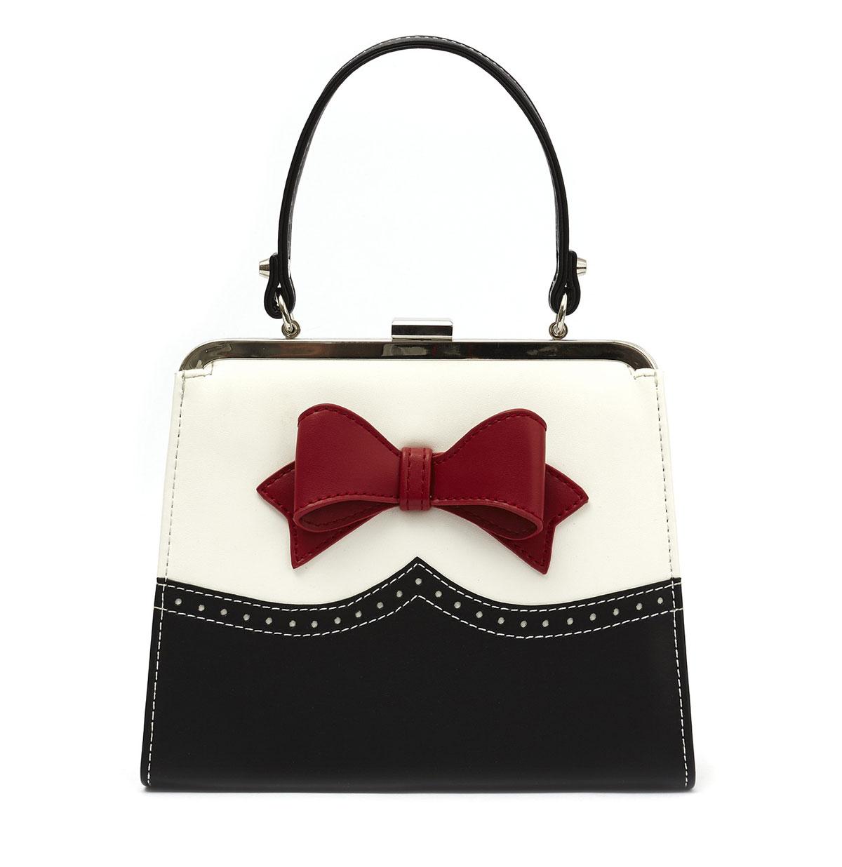 Inez Handbag Zwart/Creme/Rood