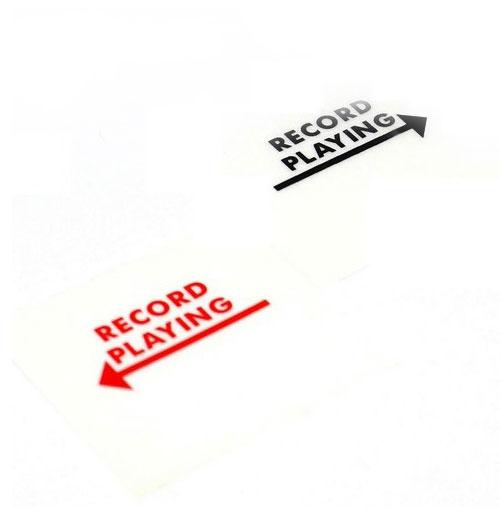 Wurlitzer stickers Record Playing links en rechts mechaniek
