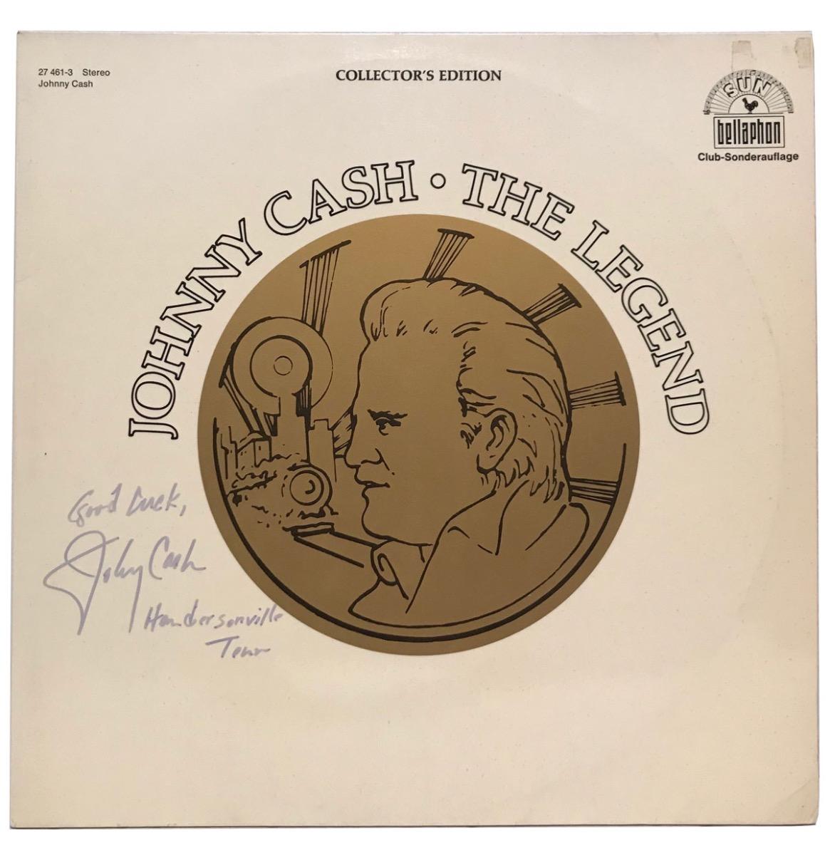 Johnny Cash - The Legend LP Gesigneerd Door Johnny Cash