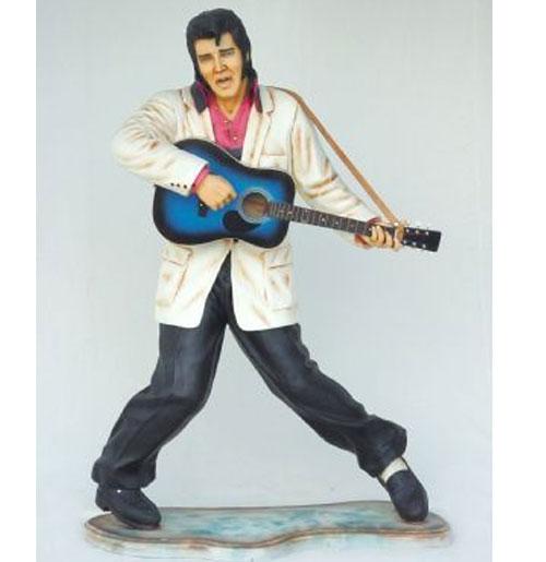 Elvis Presley met Gitaar Life-size