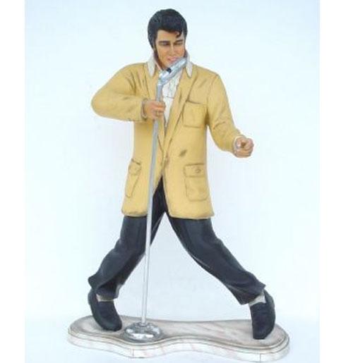 Elvis Presley beeld met microfoon (1 m.)