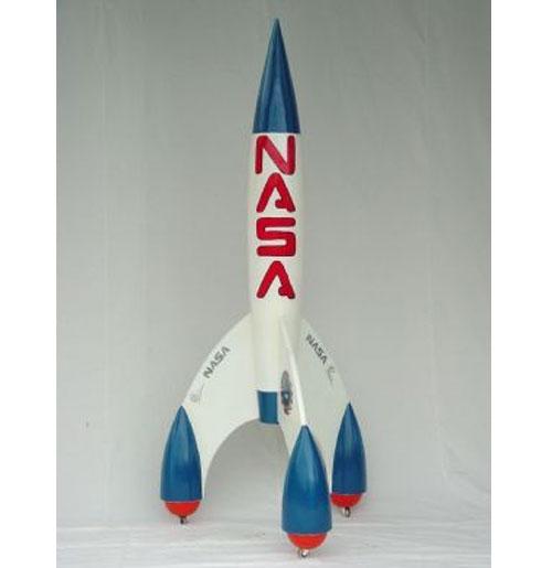 Transport Nasa Raket Statue - Decoration 2.55 M