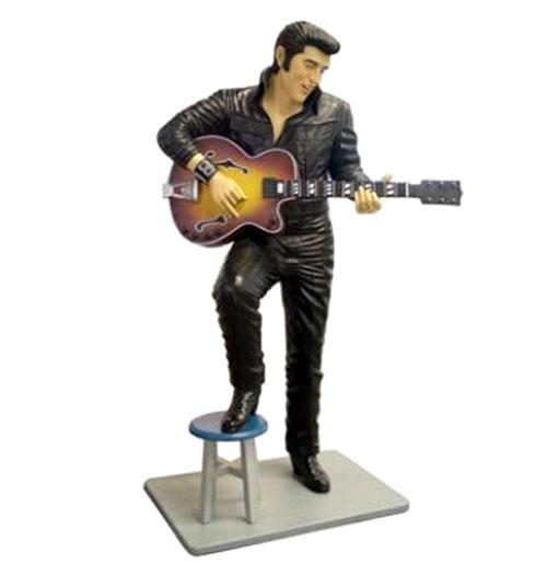 Elvis Presley met krukje Life-size