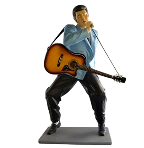 Elvis Presley Met Gitaar En Microfoon Life-Size Beeld