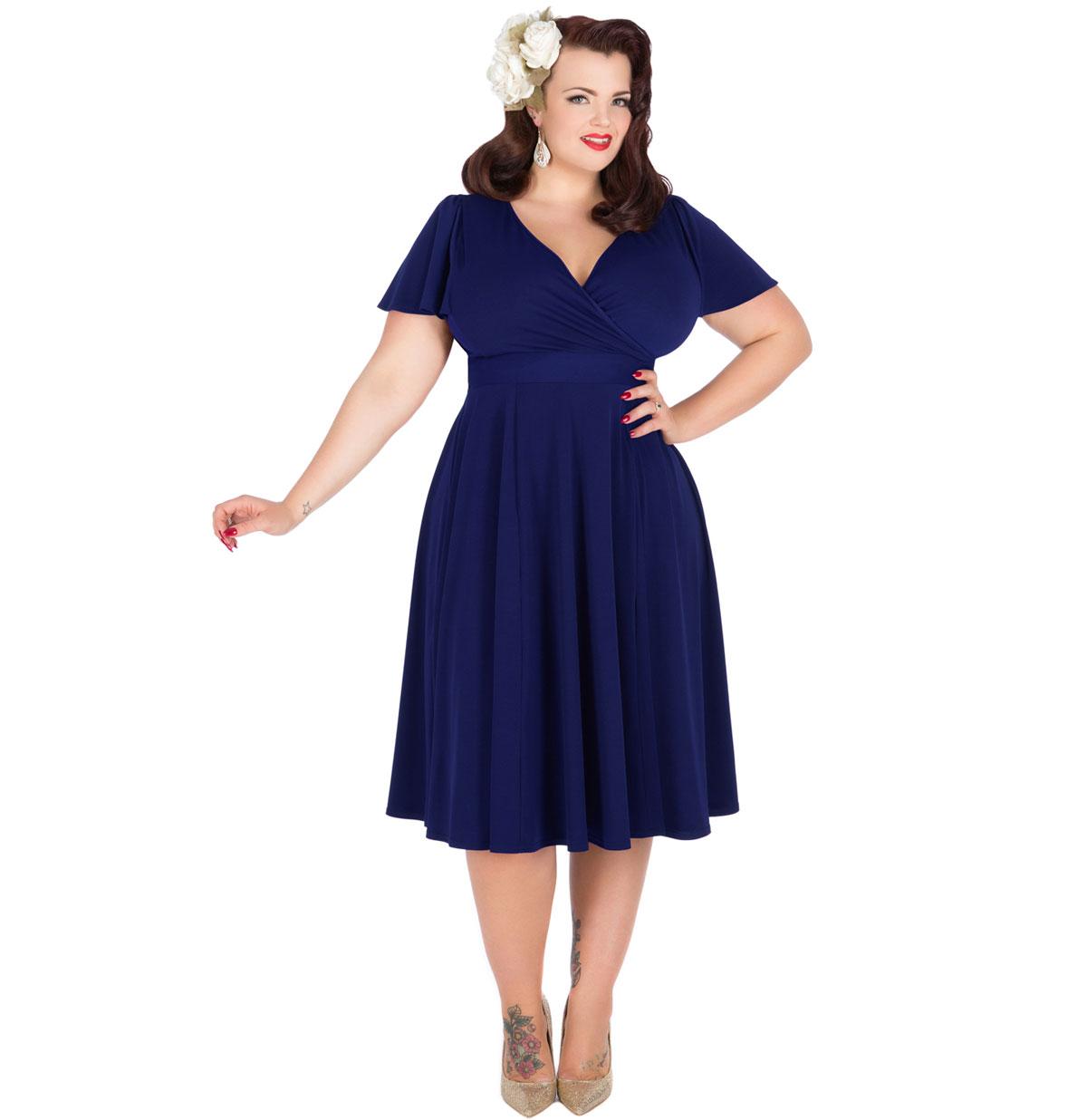 Lyra Dress Royal Blue - Plus Size Only