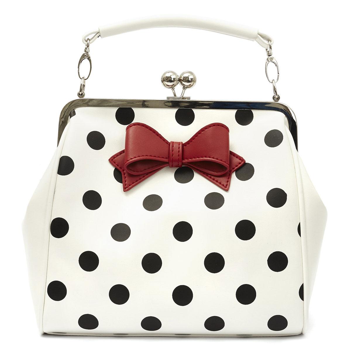 Mindy Polkadot Handbag Creme/Zwart