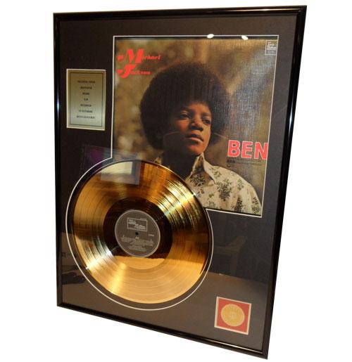 Michael Jackson Ben Gouden Plaat