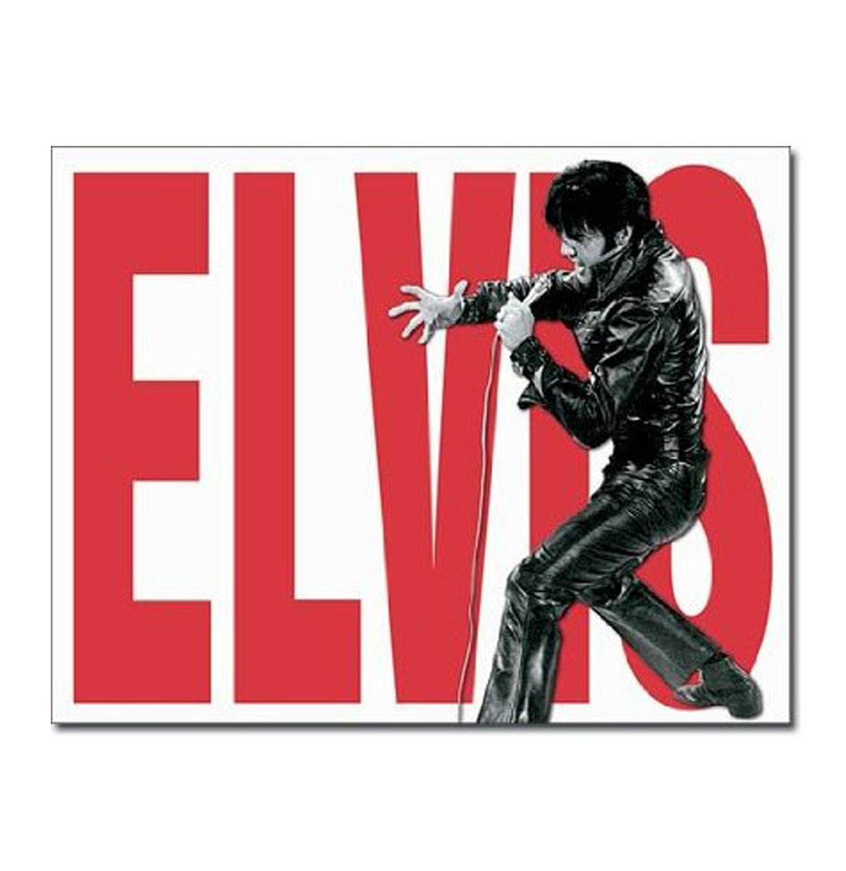 Metal Poster Elvis Presley Leather Outfit