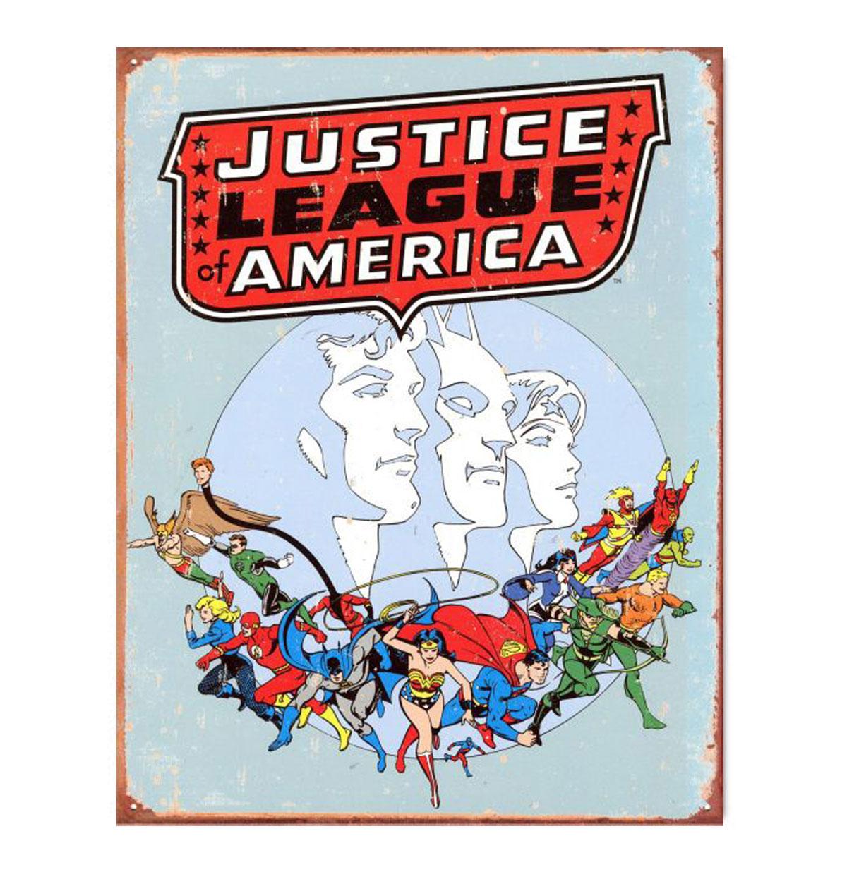 Metal Poster - DC Comics - Justice League Of America