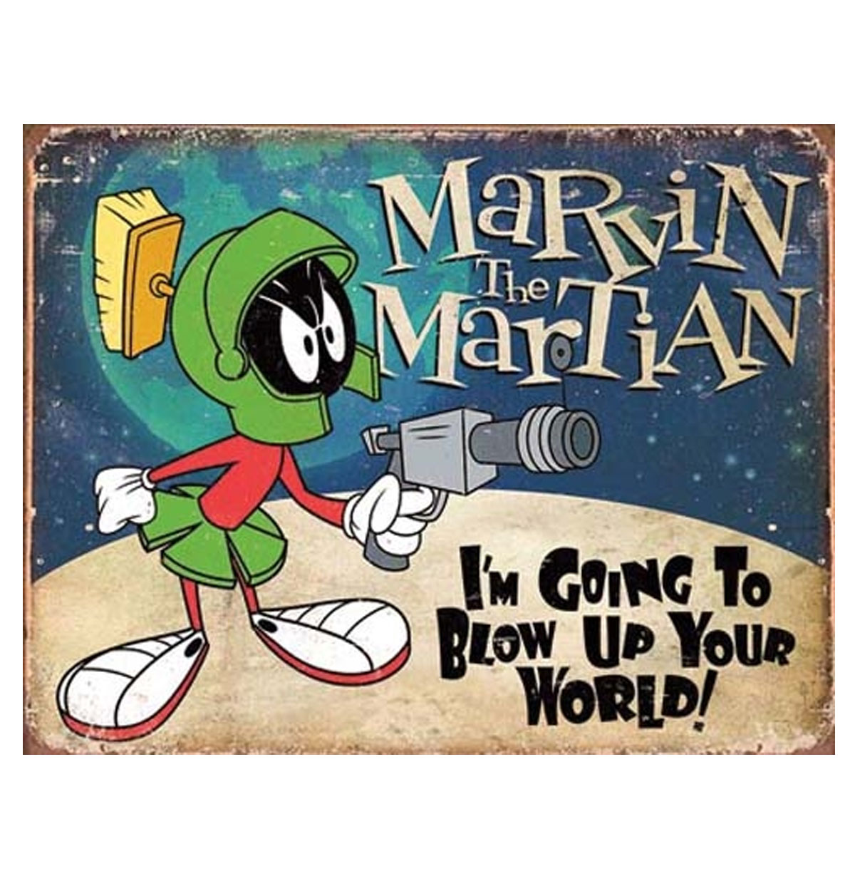 Metalen Poster - Marvin the Martian Looney Tunes