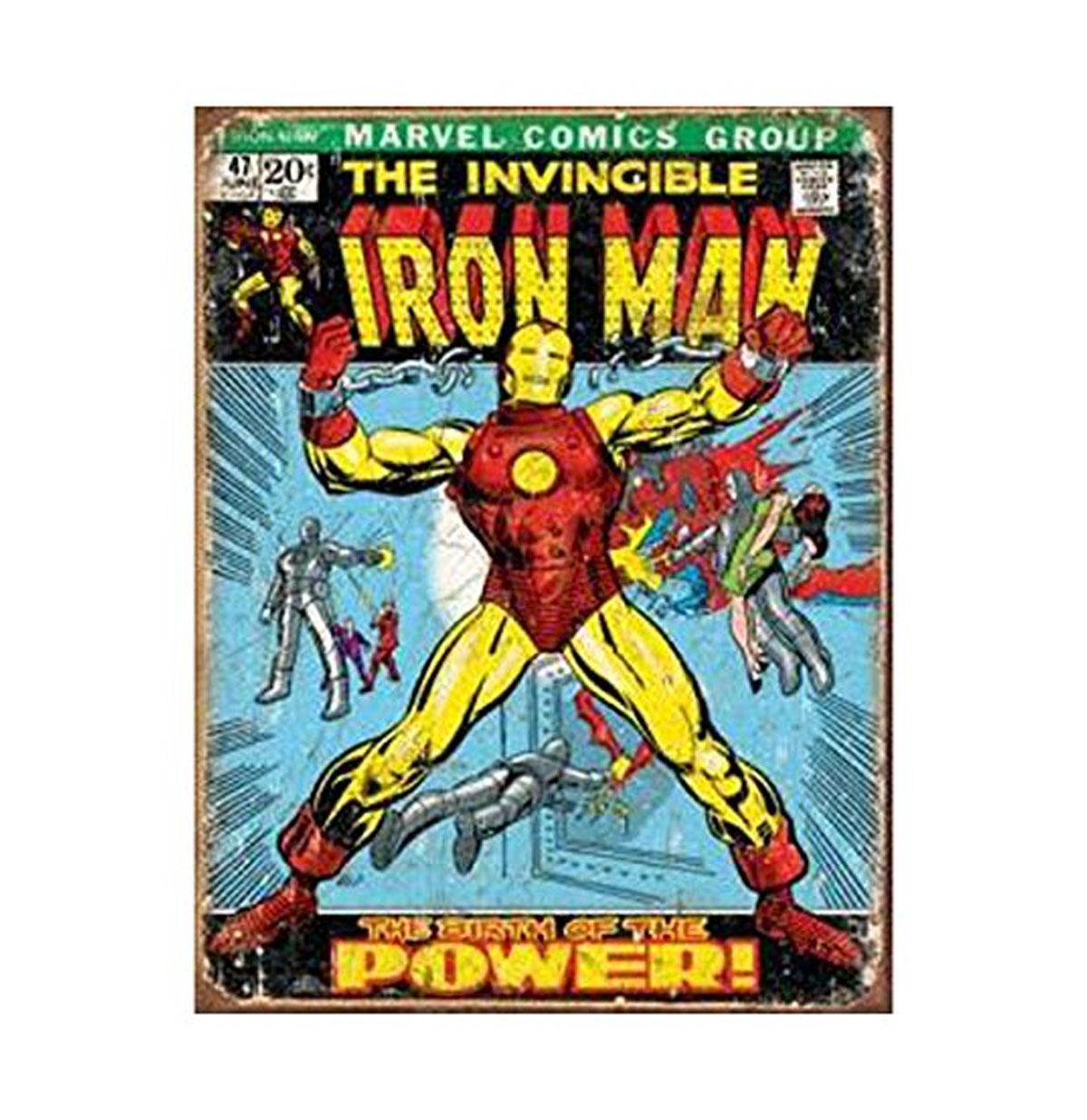 The Invincible Iron Man Marvel Comics Metalen Poster