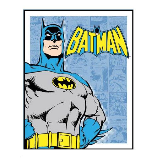 Metalen Poster - Batman, Retro Panels