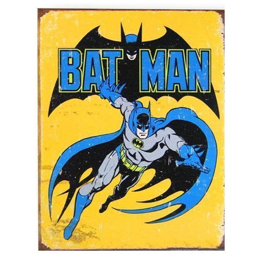 Metalen Poster - Retro Batman