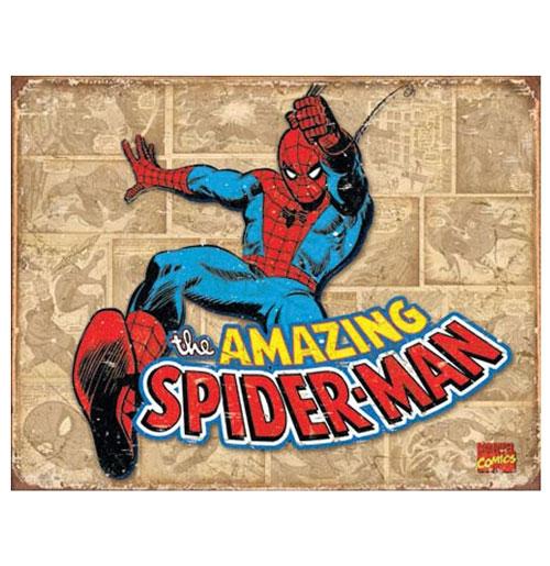 Metal Poster - Marvel Comics - Amazing Spiderman Retro