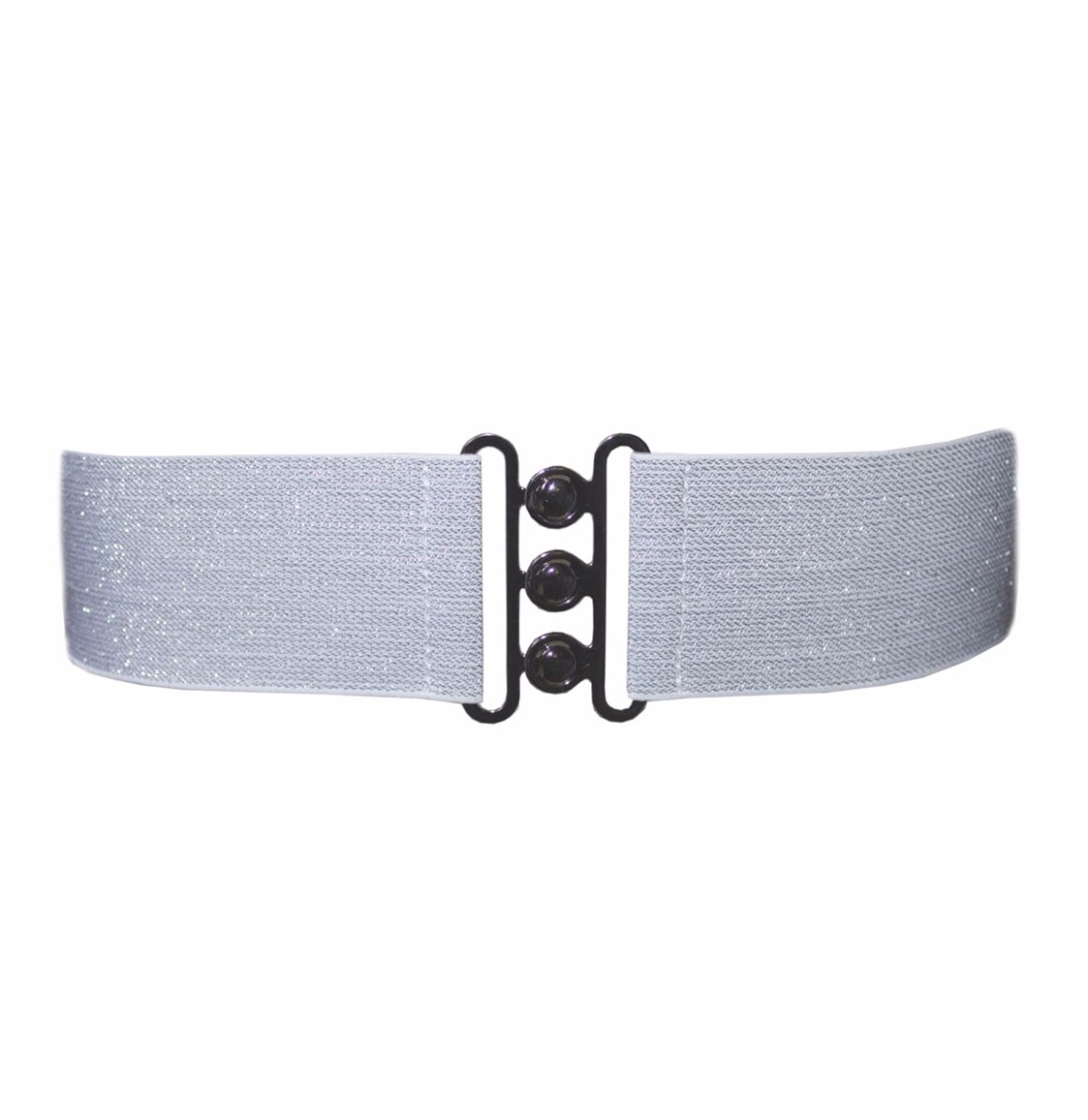 Nessa Lurex Cinch Belt Silver