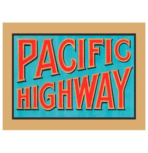 Metalen Bord - Pacific Highway