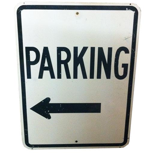 Parking Left Arrow Zwaar Bord Original