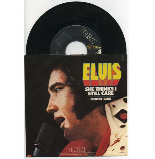 Elvis Presley 45 RPM Moody Blue