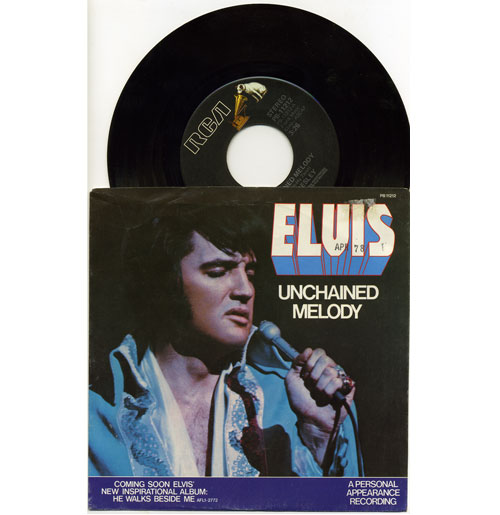 Elvis Presley 45 RPM Unchained Melody