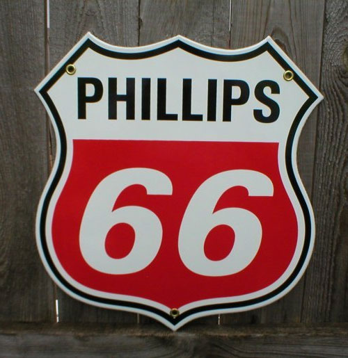 Phillips 66 Retro Emaille Logobord