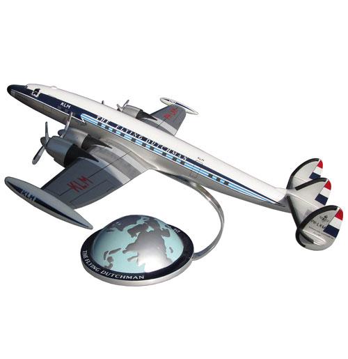 Model Vliegtuig Constellation KLM Flying Dutchman w/ Globe Base