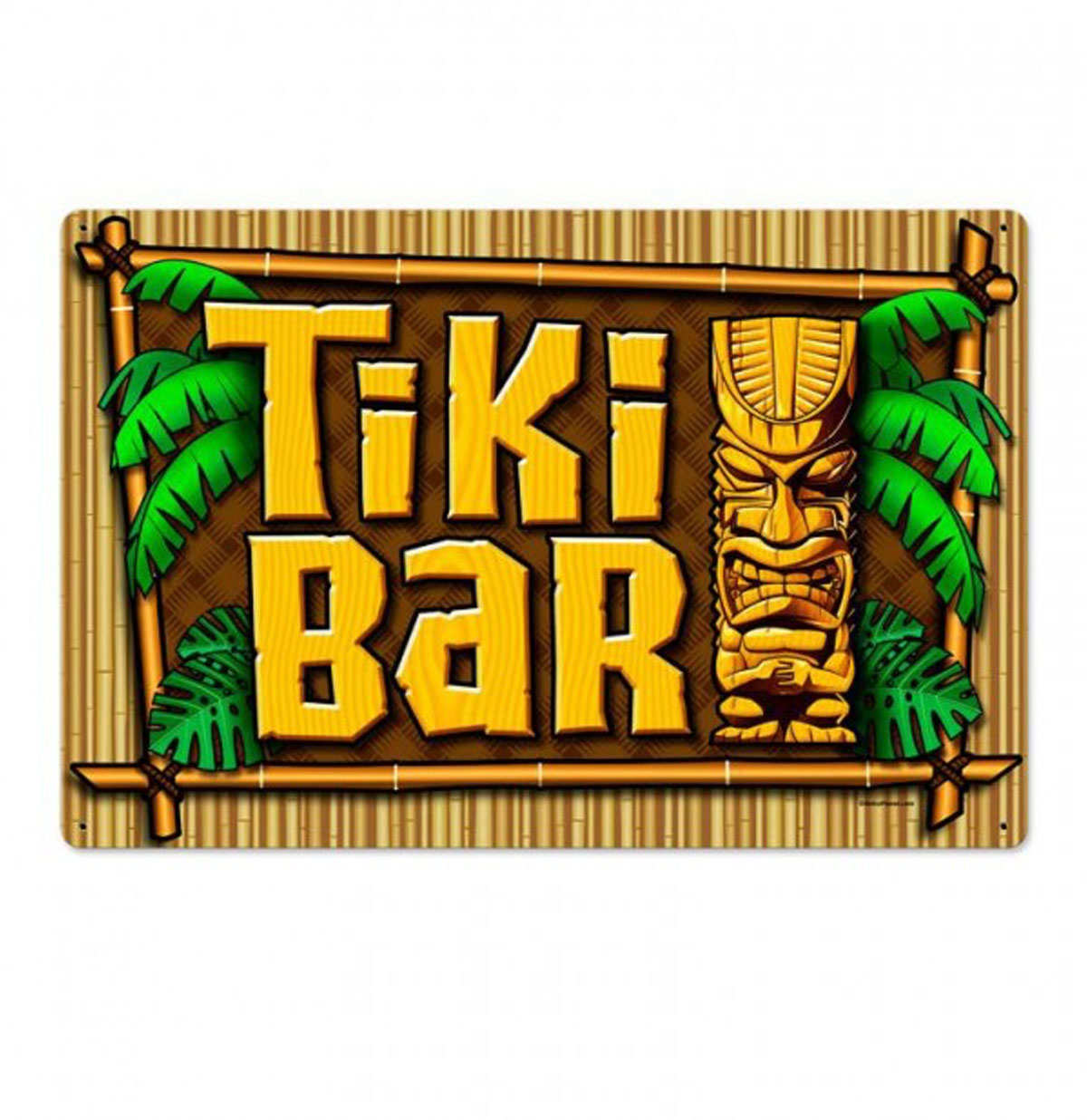 Tiki Bar Zwaar Metalen Bord