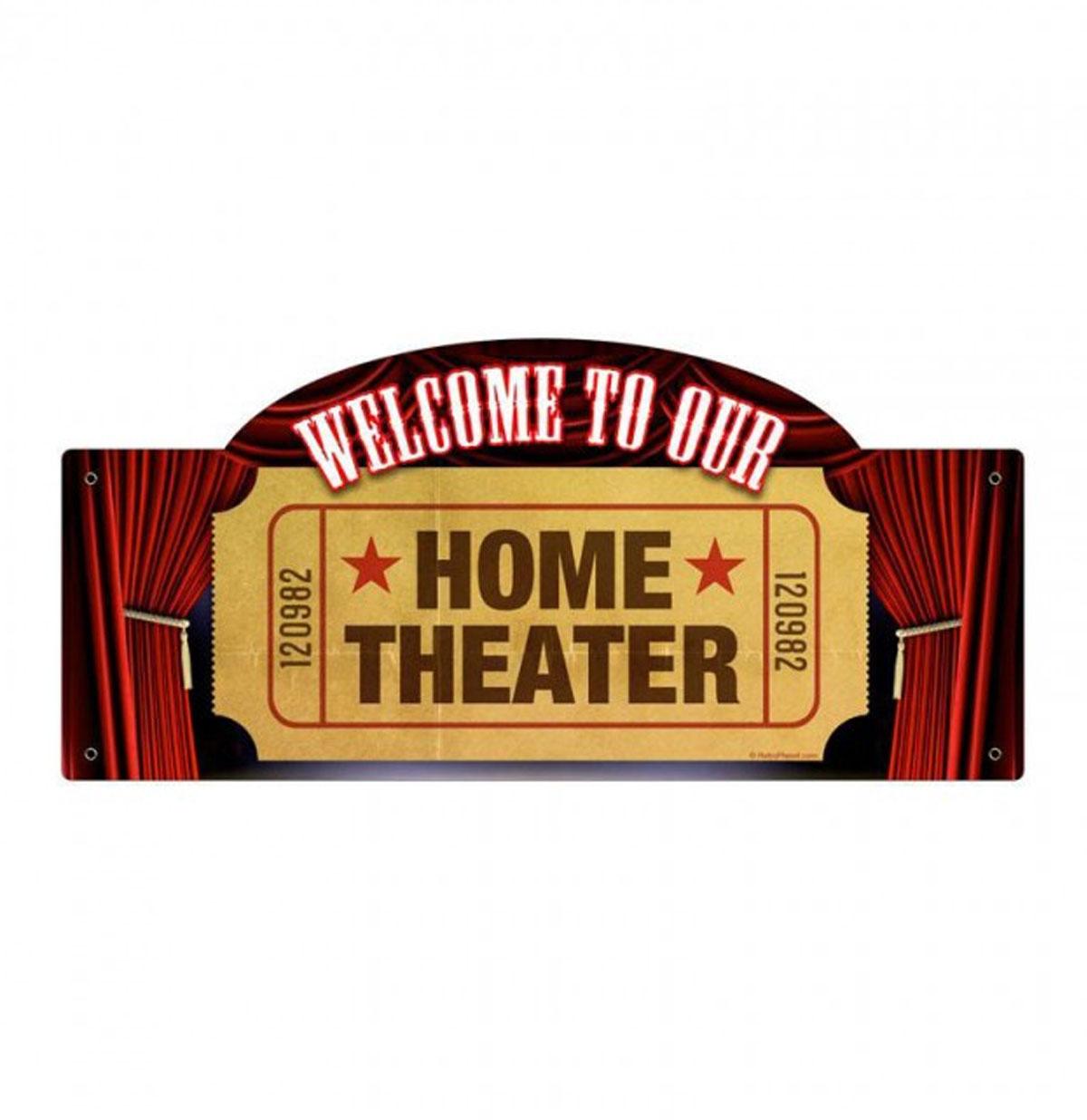 Home Theater Zwaar Metalen Bord 43 x 18 cm