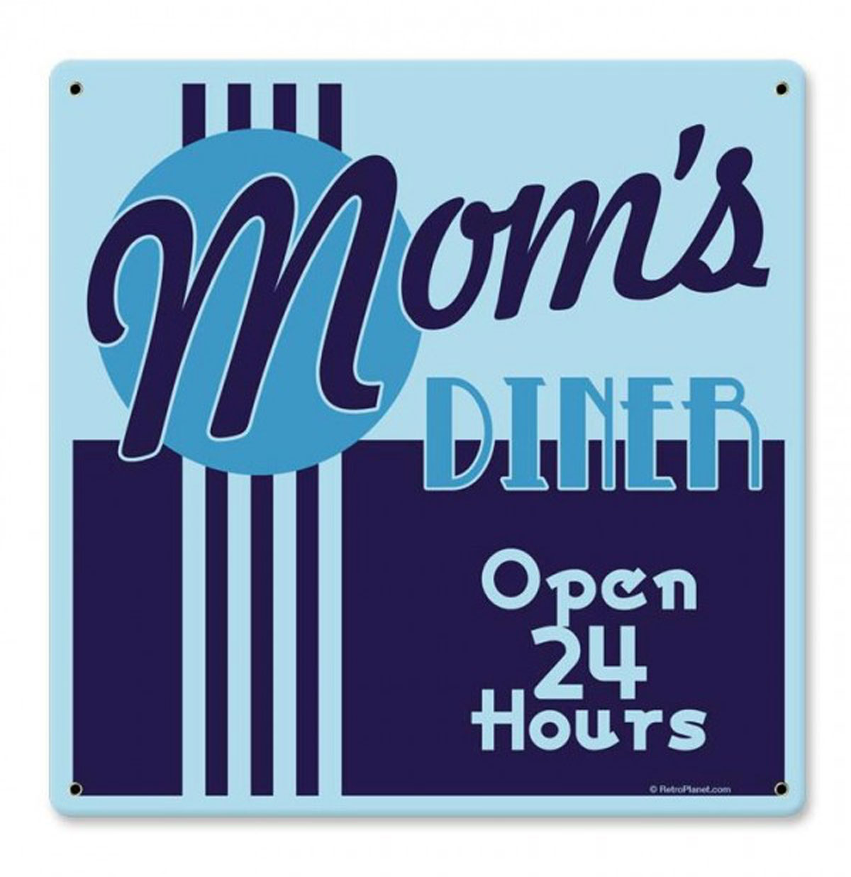 Mom's Diner - Open 24 Hours Zwaar Metalen Bord