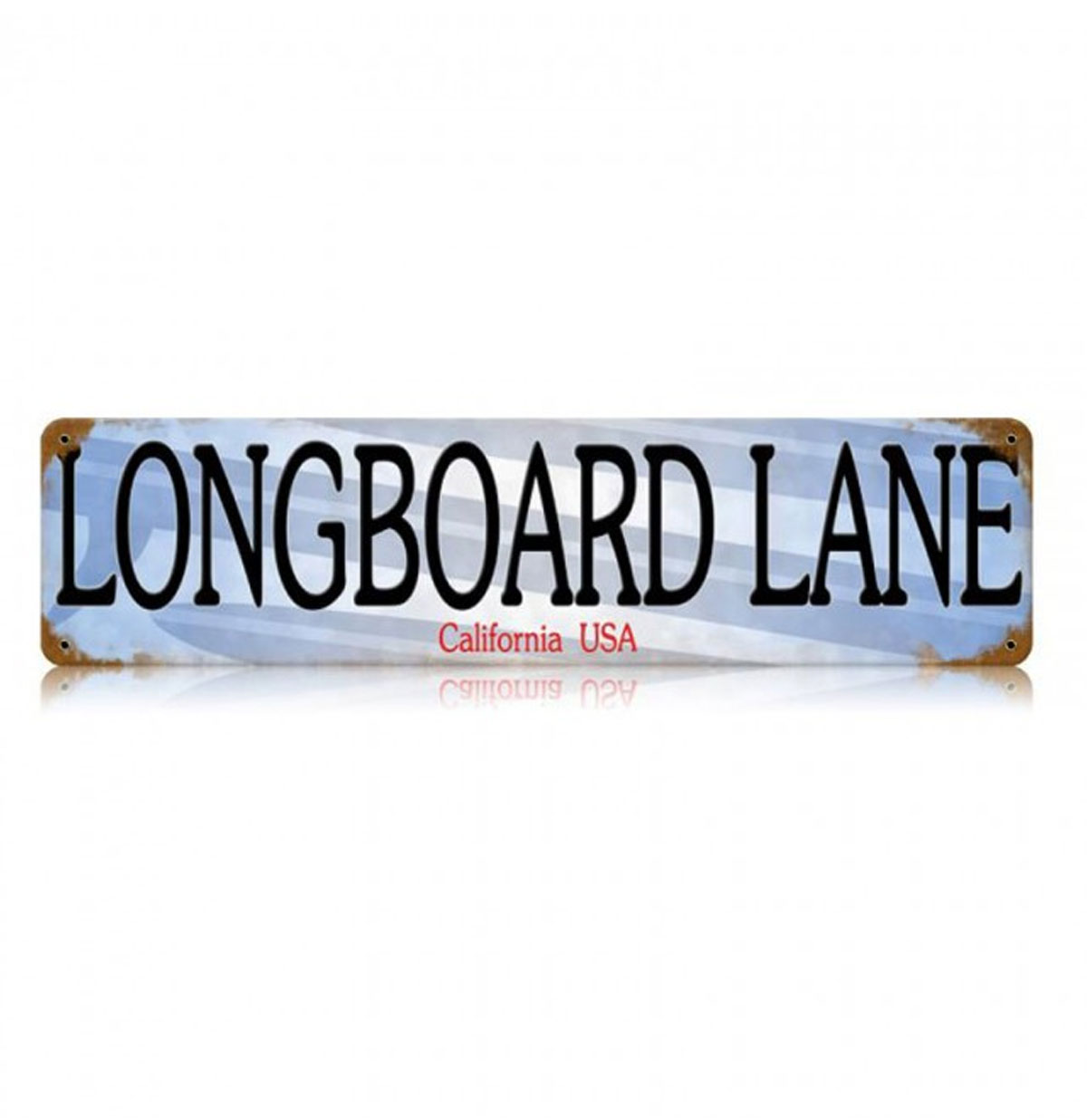 Longboard Lane Zwaar Metalen Bord 50 x 13 cm