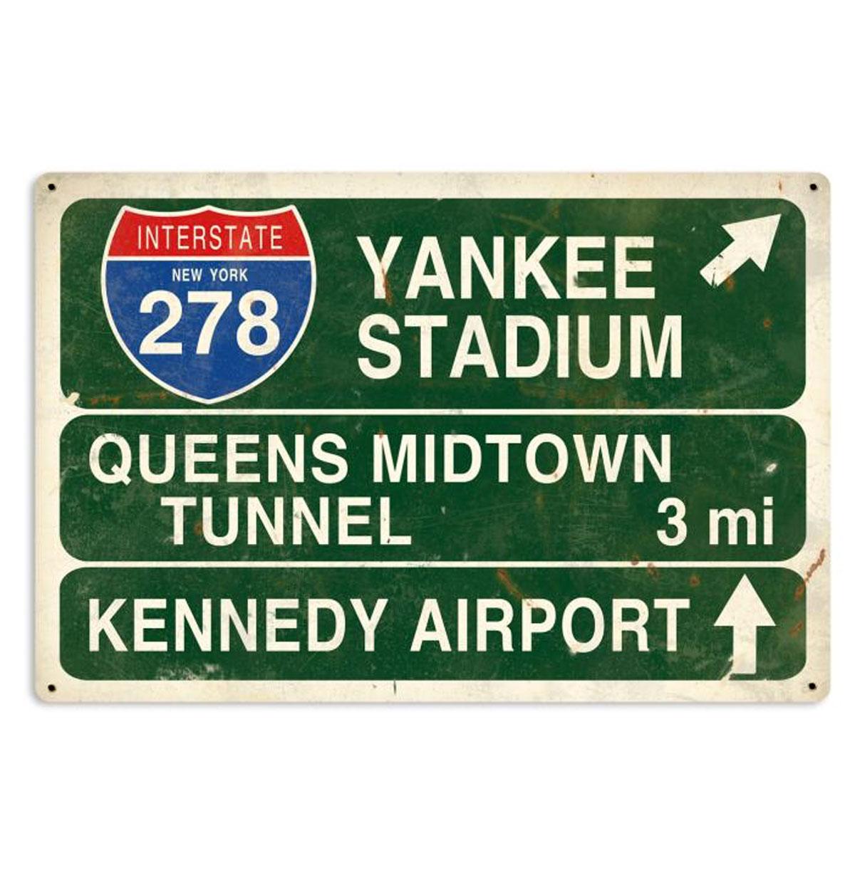 Yankee Stadium New York Highway Zwaar Metalen Bord