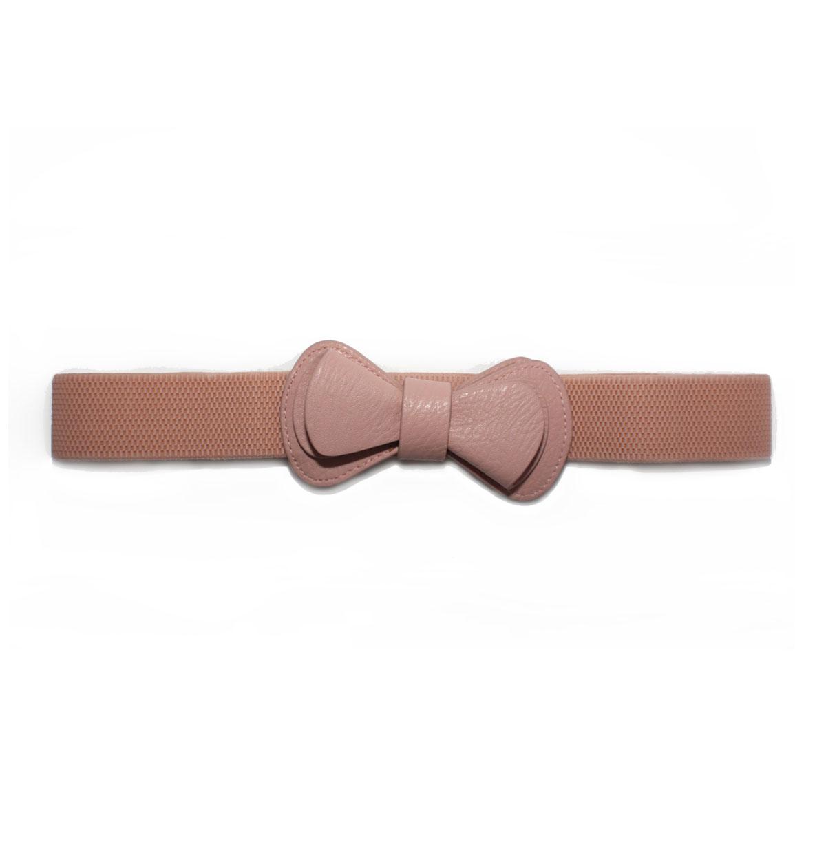 Elastic Bow Belt Blush