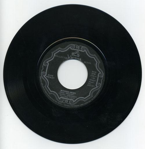 Elvis Presley 45 RPM Wooden Heart