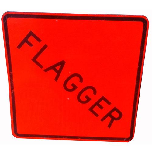 Metalen Verkeersbord - Flagger