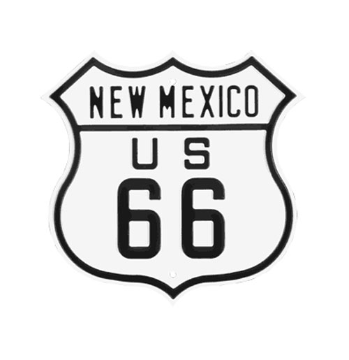 Route 66 New Mexico Emaille Logobord