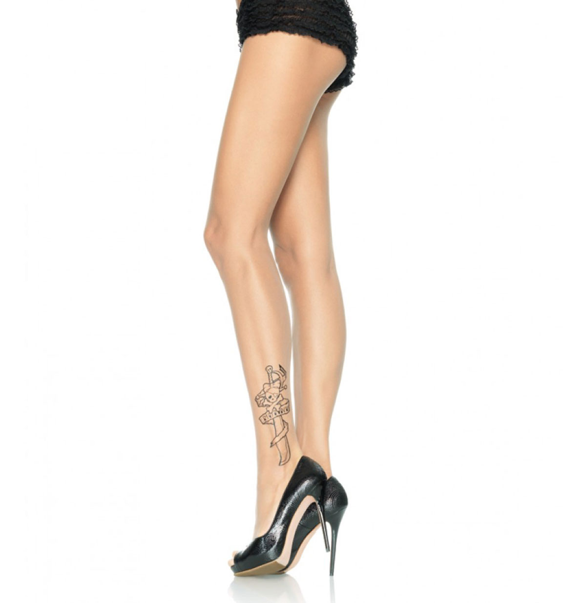 Sheer Pantyhose Tattoo print