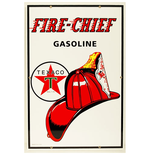 Texaco Fire Chief Emaille Logobord